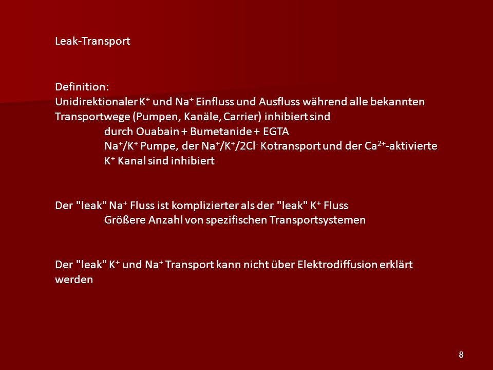 Leak-Transport Definition: