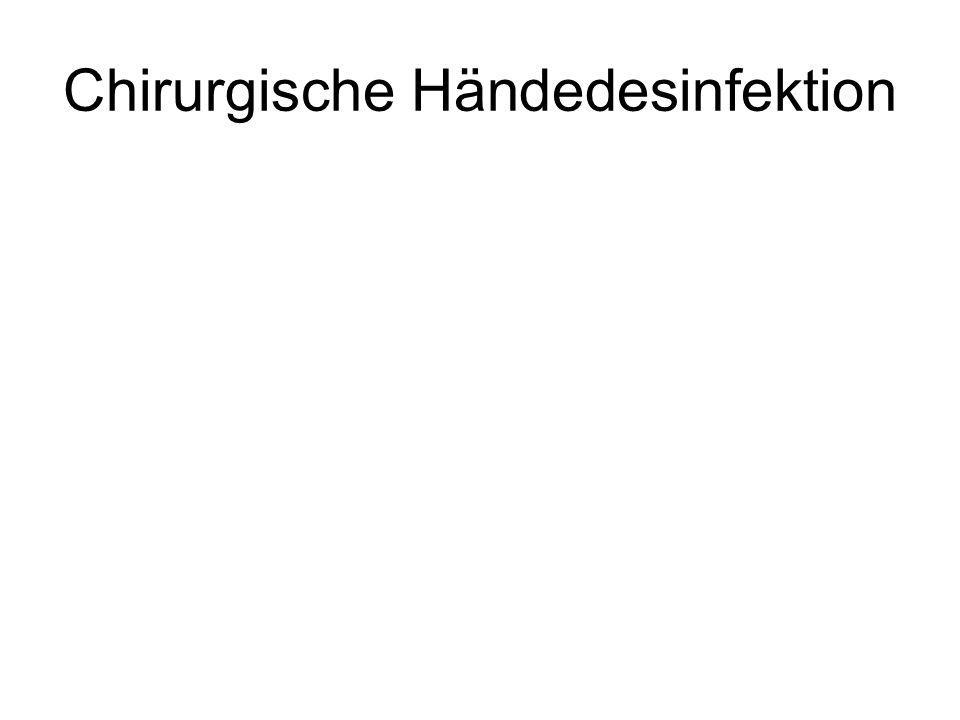 Chirurgische Händedesinfektion