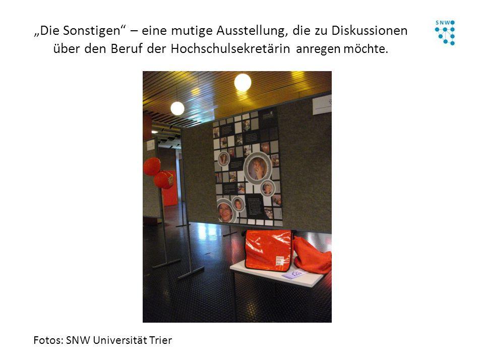 """""""Die Sonstigen – eine mutige Ausstellung, die zu Diskussionen über den Beruf der Hochschulsekretärin anregen möchte."""