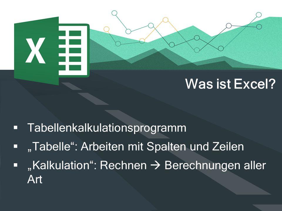 Was ist Excel Tabellenkalkulationsprogramm