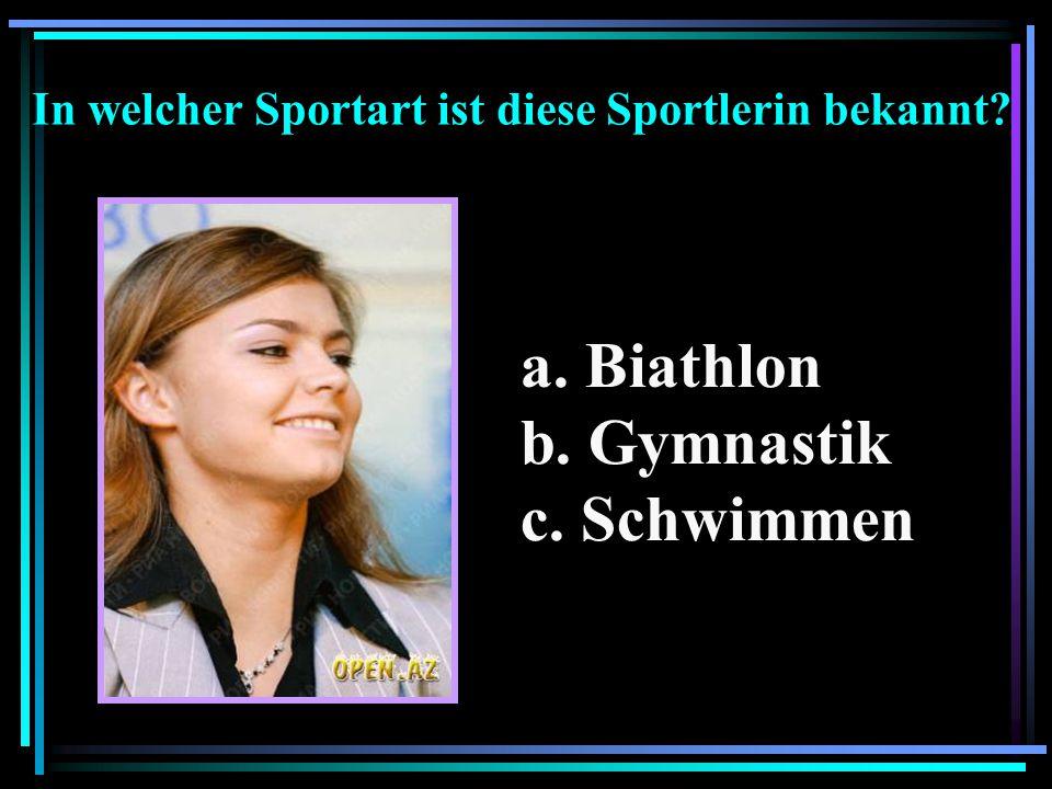 In welcher Sportart ist diese Sportlerin bekannt