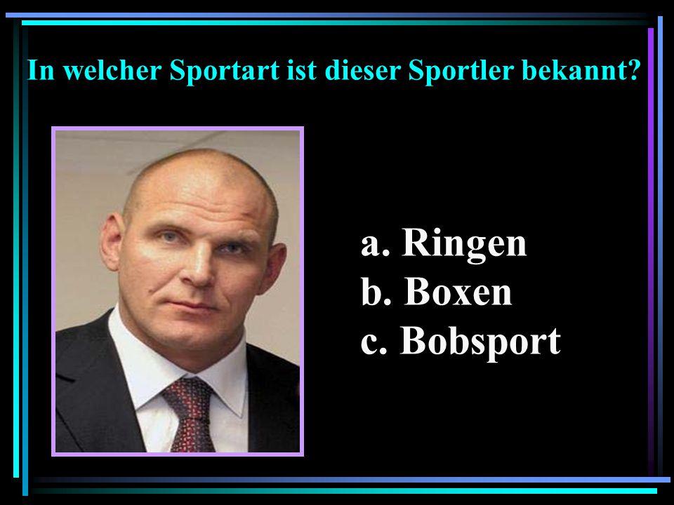 In welcher Sportart ist dieser Sportler bekannt
