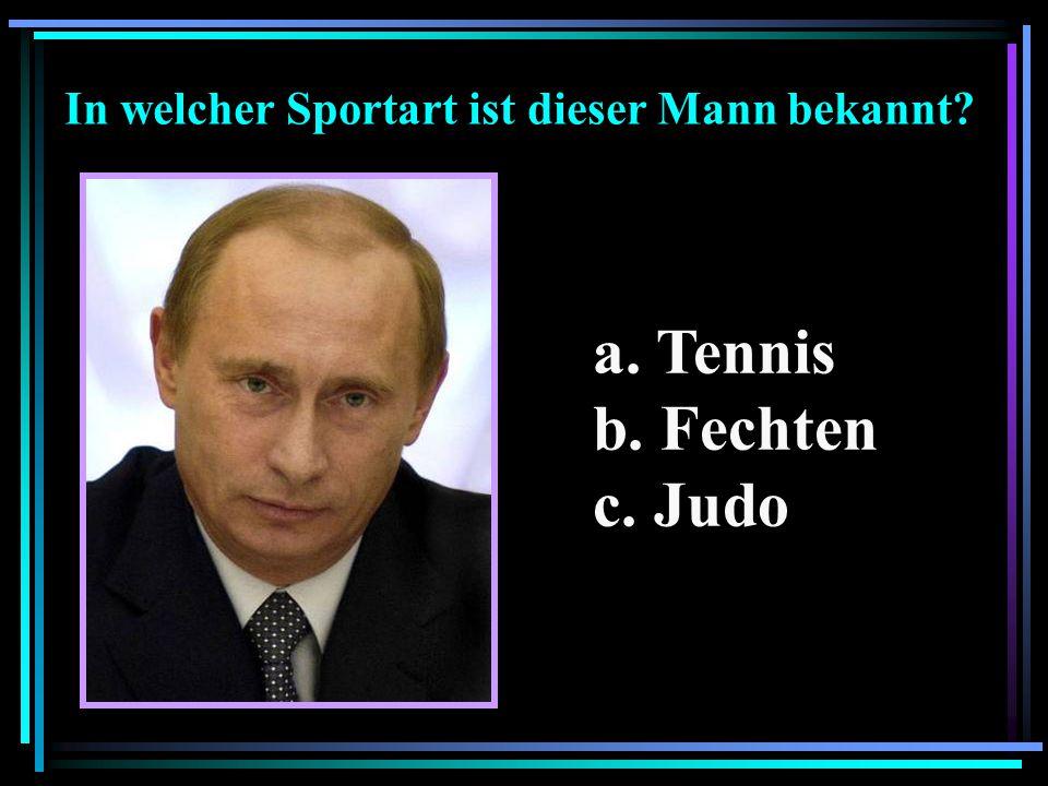 In welcher Sportart ist dieser Mann bekannt