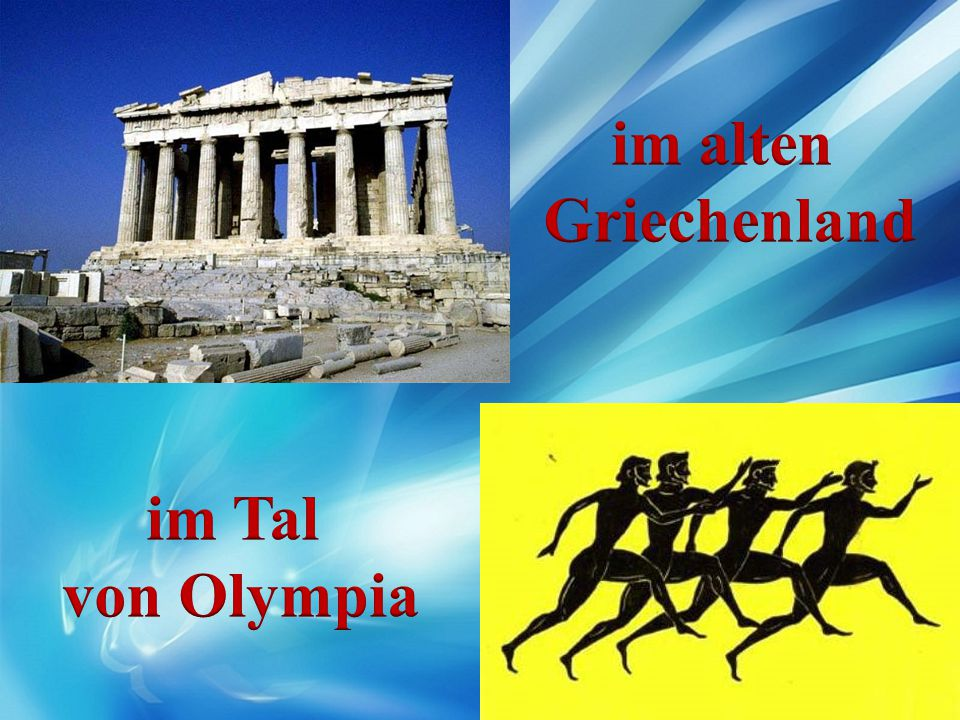im alten Griechenland im Tal von Olympia