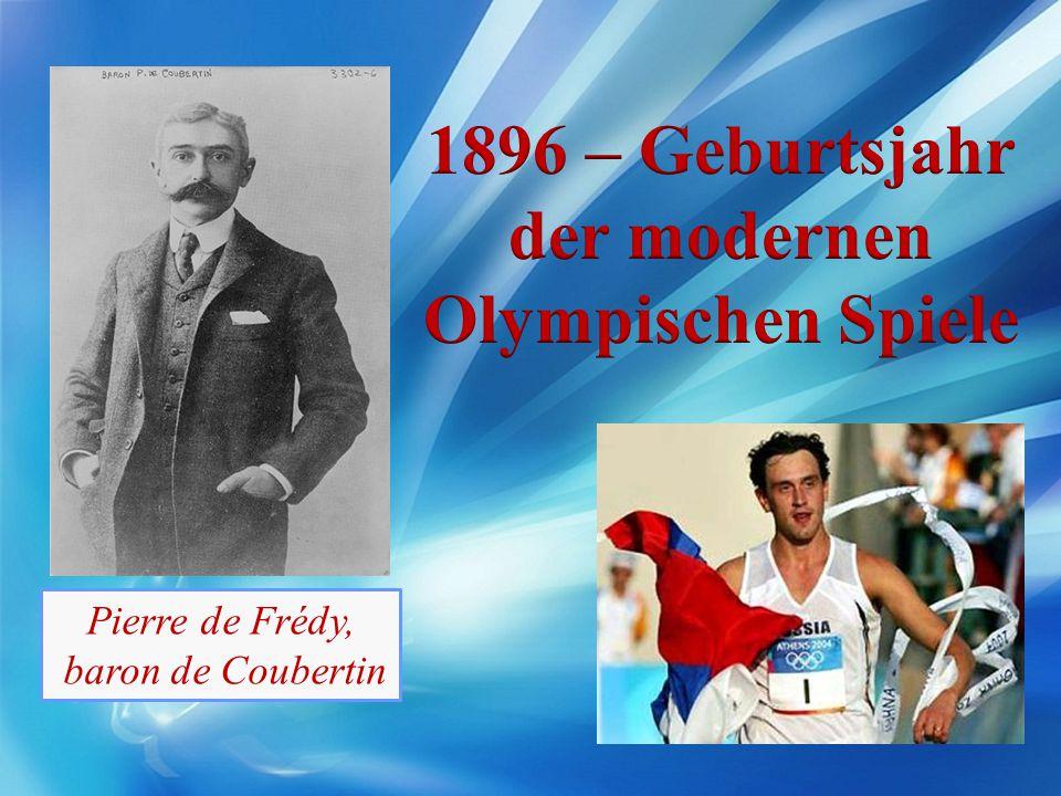 1896 – Geburtsjahr der modernen Olympischen Spiele