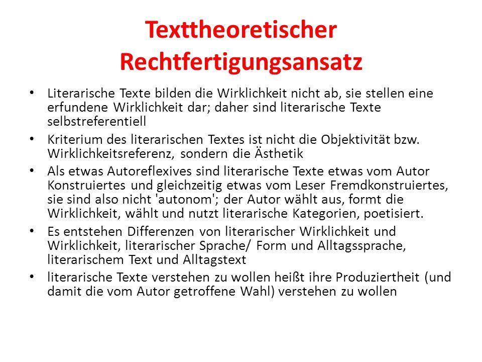 Texttheoretischer Rechtfertigungsansatz