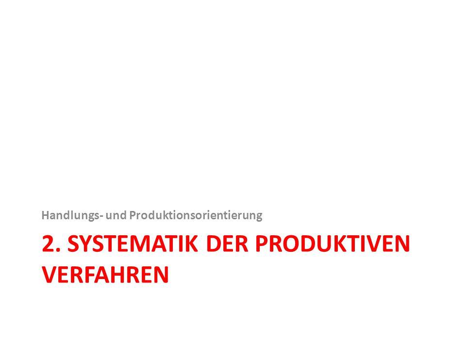 2. Systematik der produktiven Verfahren