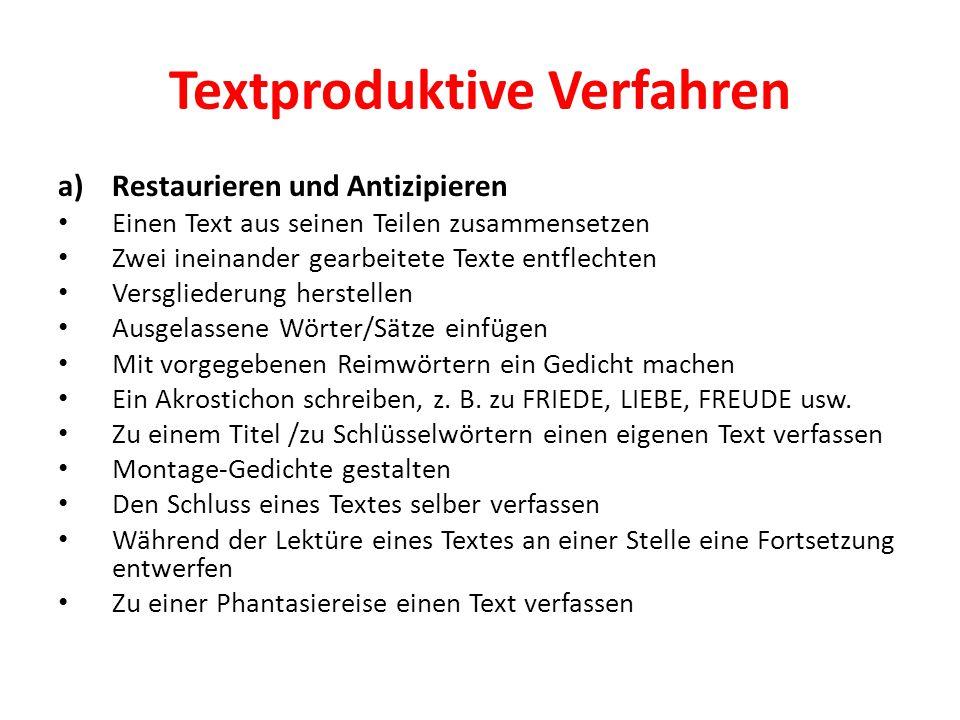 Textproduktive Verfahren