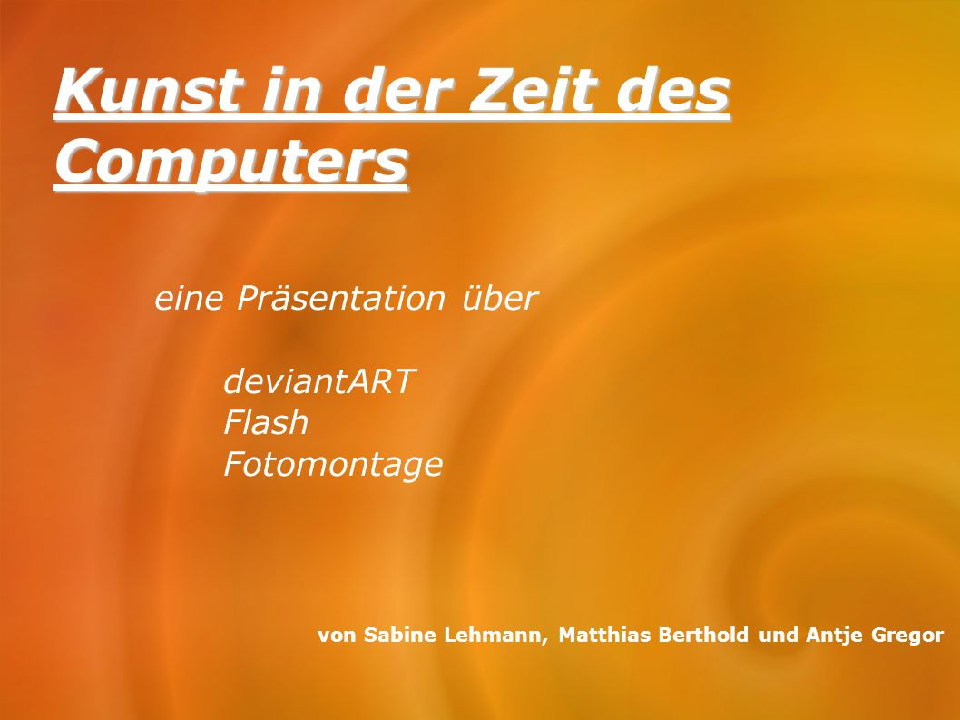 Kunst in der Zeit des Computers