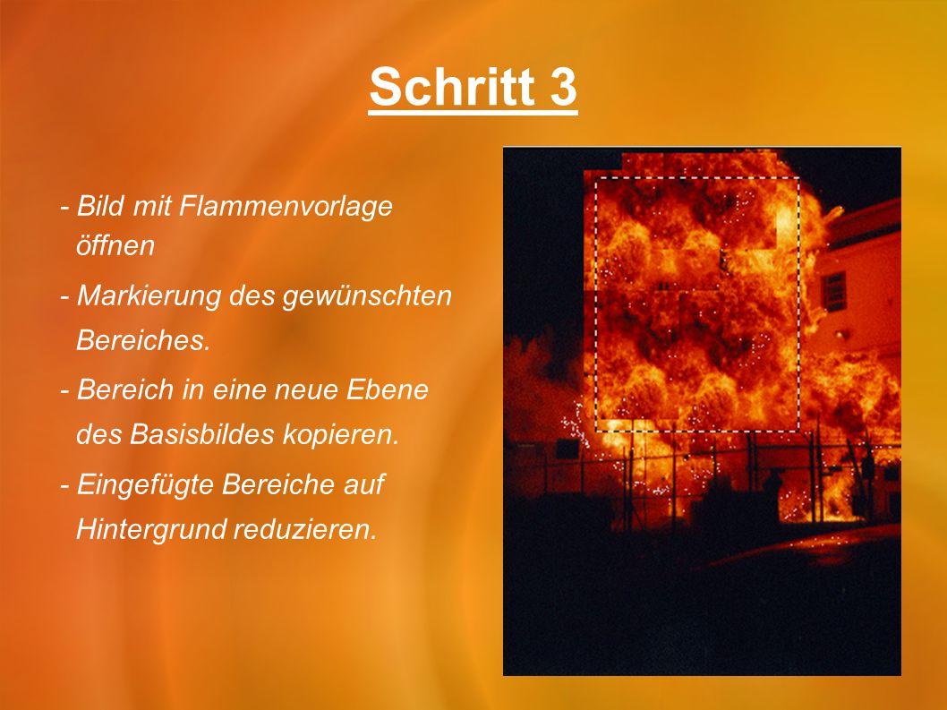 Schritt 3 - Bild mit Flammenvorlage öffnen