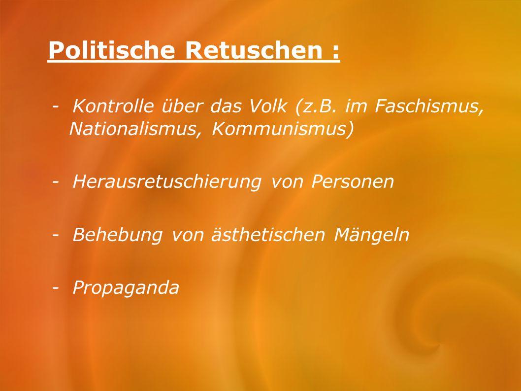 Politische Retuschen :