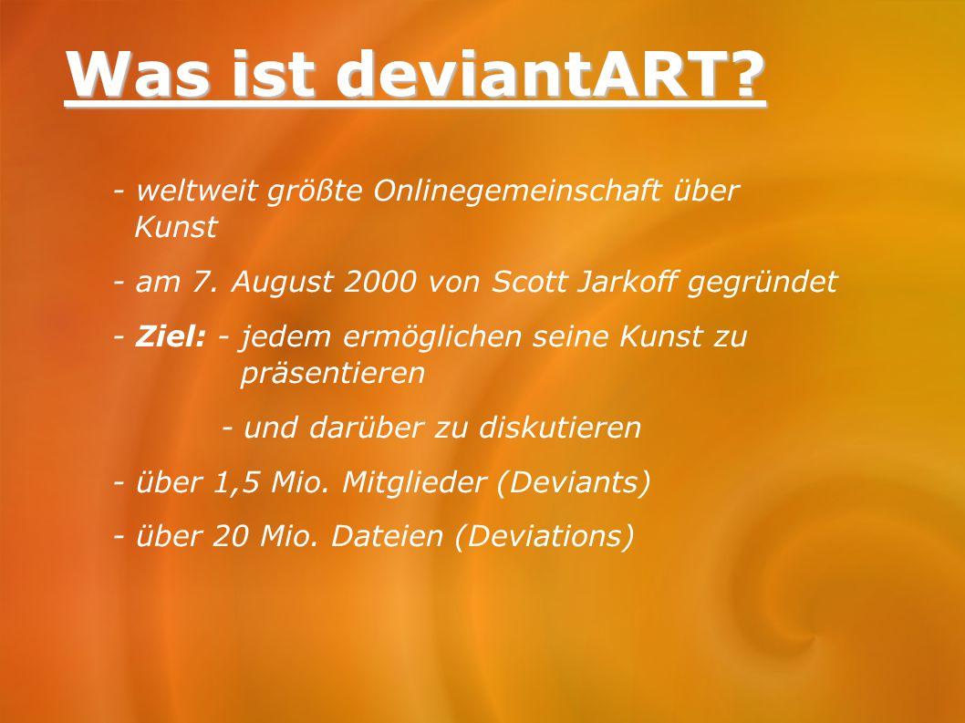 Was ist deviantART - weltweit größte Onlinegemeinschaft über Kunst