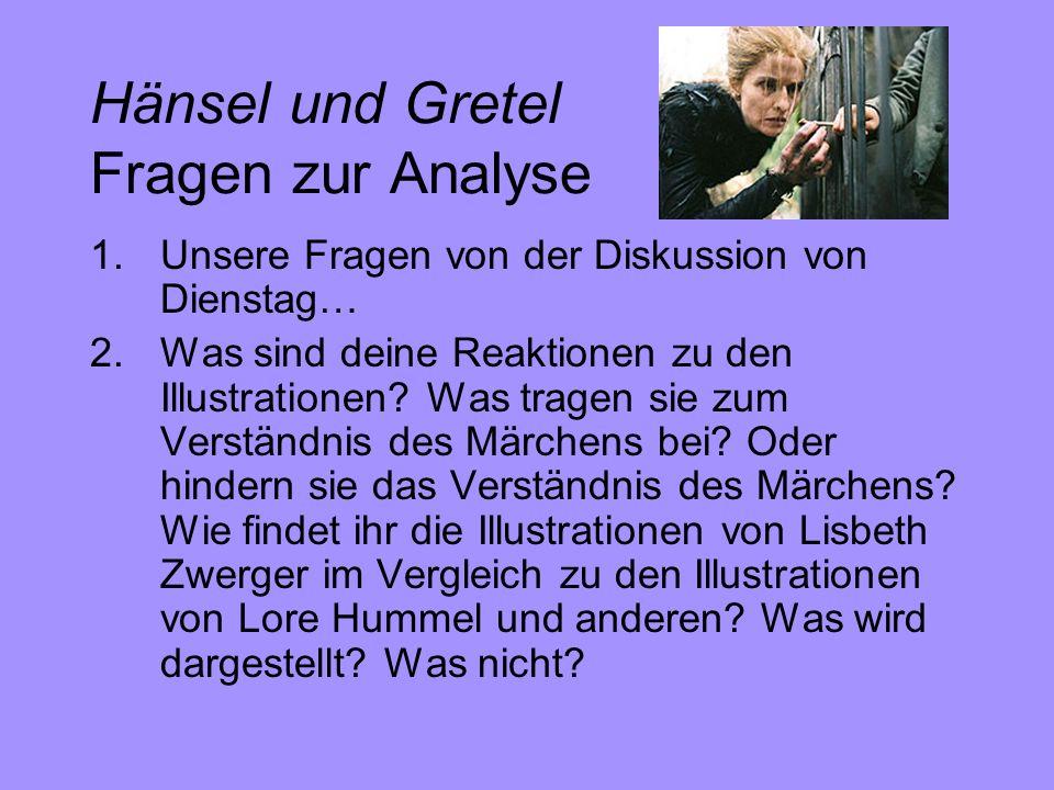 Hänsel und Gretel Fragen zur Analyse