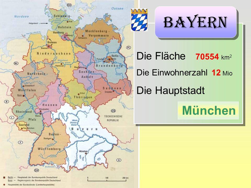 Bayern München Die Fläche 70554 km2 Die Hauptstadt