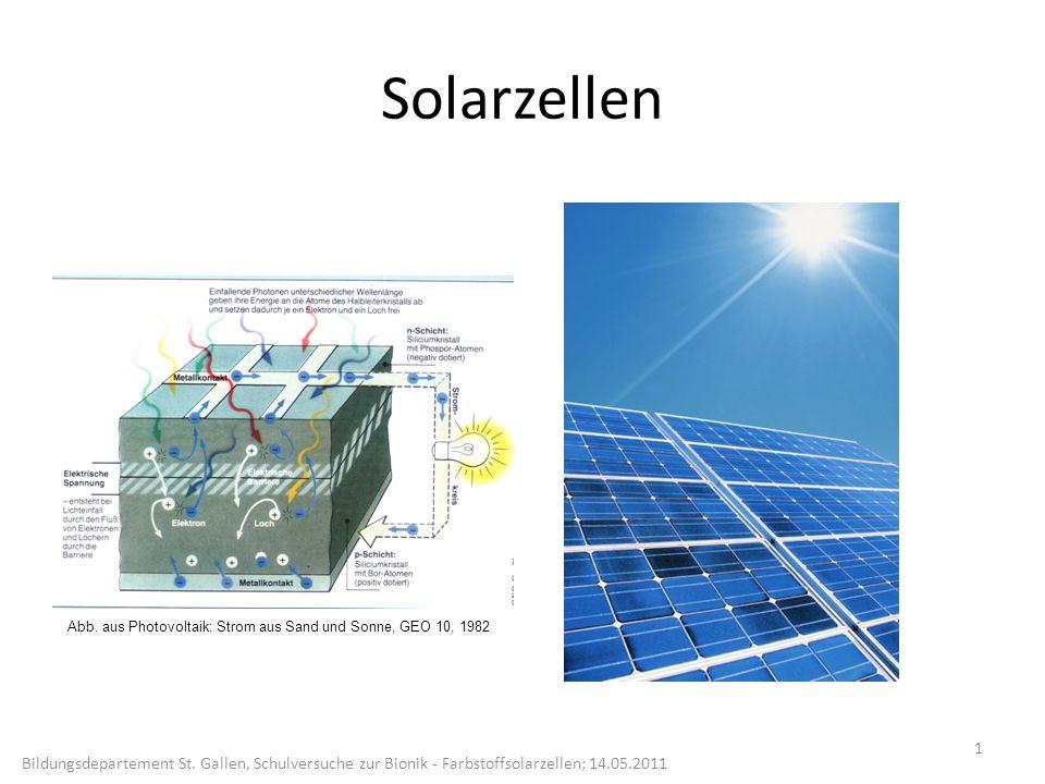 Solarzellen Abb. aus Photovoltaik: Strom aus Sand und Sonne, GEO 10, 1982.