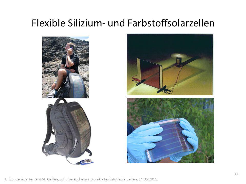 Flexible Silizium- und Farbstoffsolarzellen
