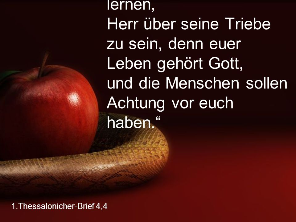1.Thessalonicher-Brief 4,4