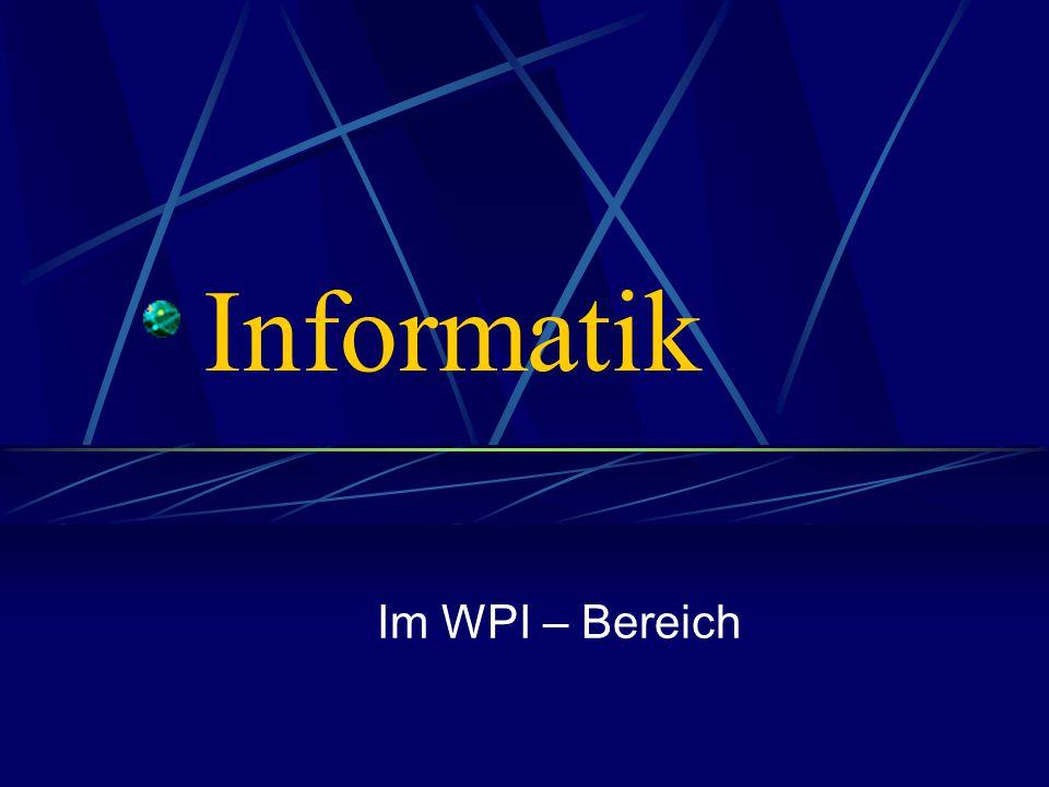 Informatik Im WPI – Bereich