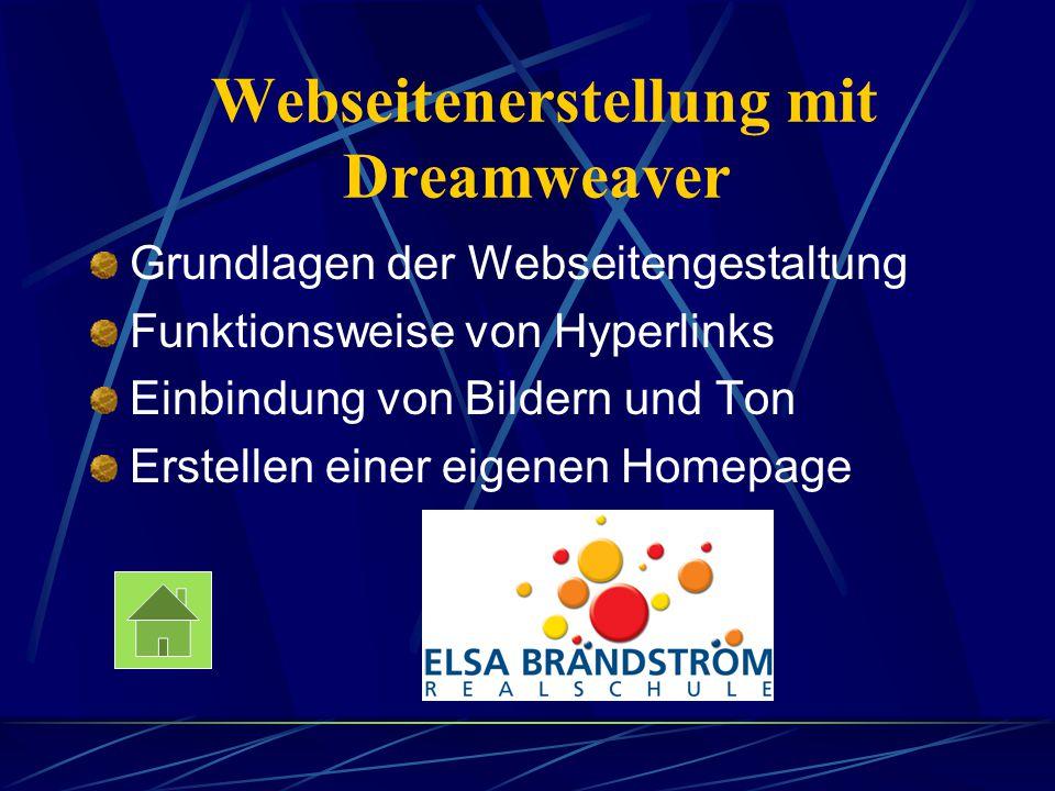Webseitenerstellung mit Dreamweaver