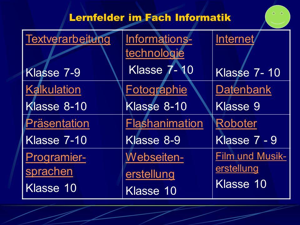 Lernfelder im Fach Informatik