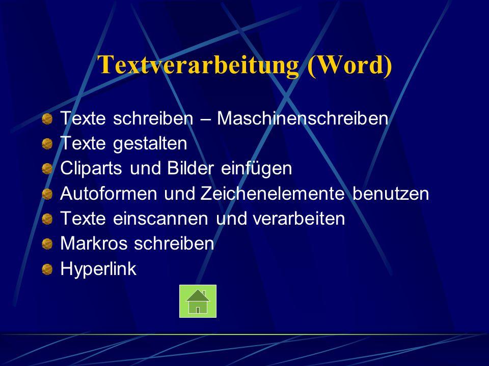Textverarbeitung (Word)