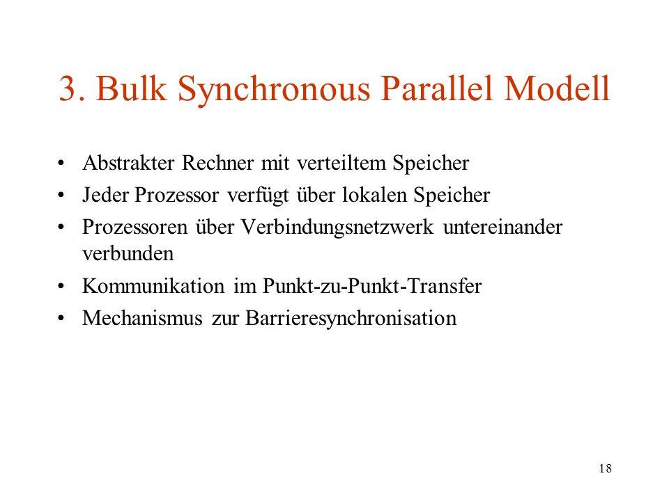 3. Bulk Synchronous Parallel Modell
