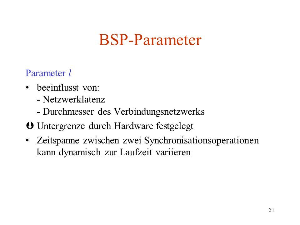 BSP-Parameter Parameter l