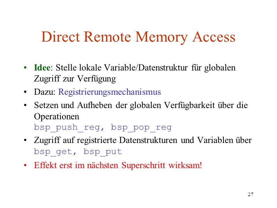 Direct Remote Memory Access