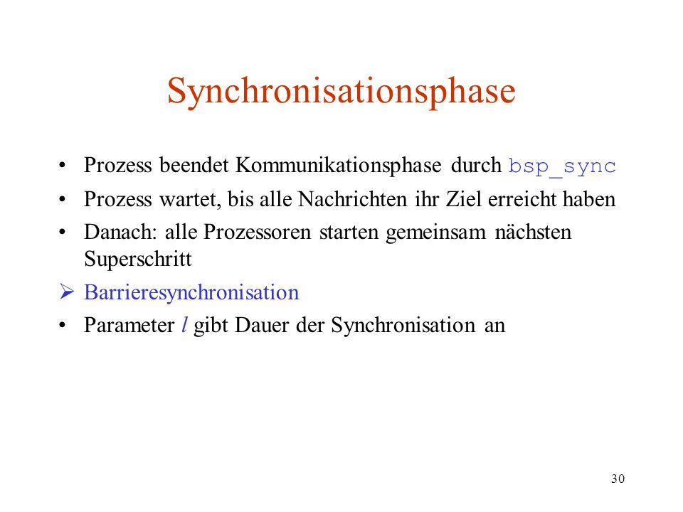 Synchronisationsphase