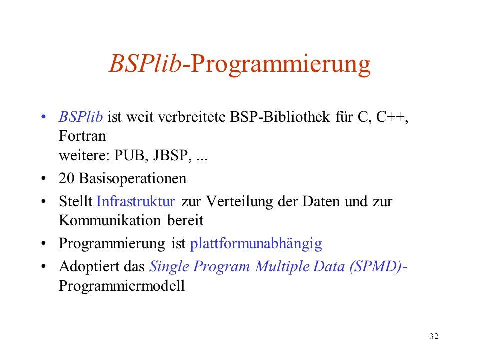 BSPlib-Programmierung
