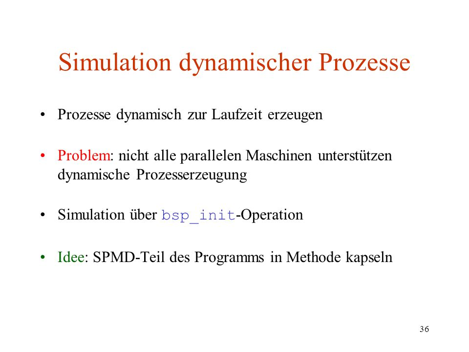 Simulation dynamischer Prozesse