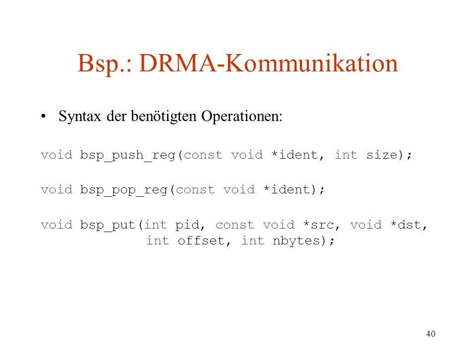 Bsp.: DRMA-Kommunikation