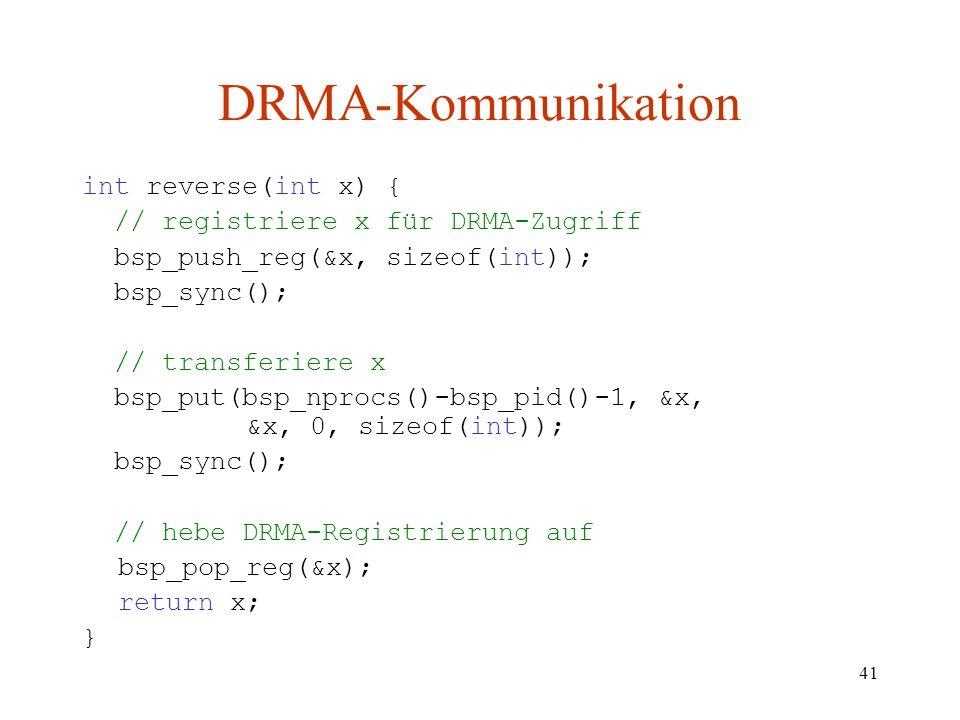 DRMA-Kommunikation int reverse(int x) {
