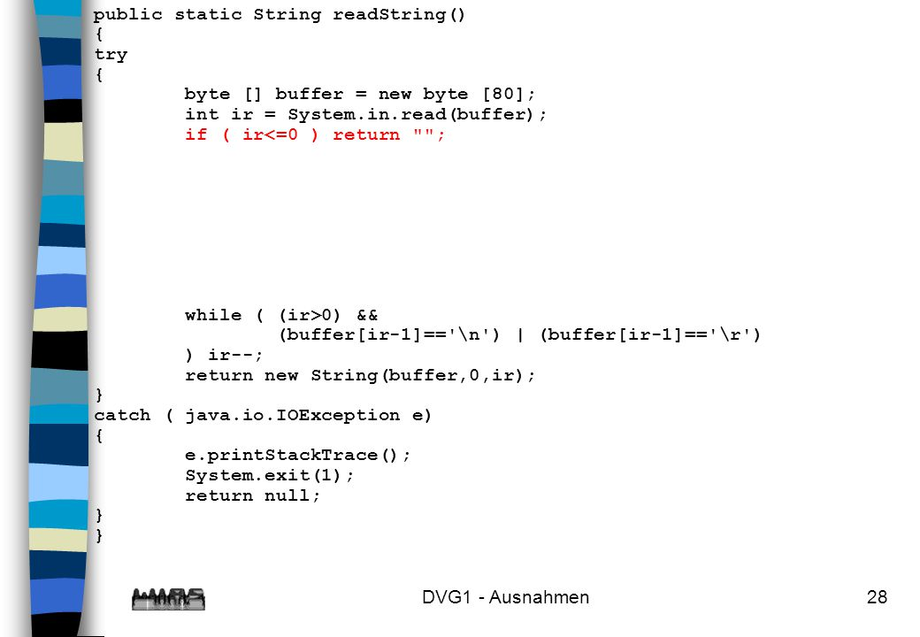 public static String readString()