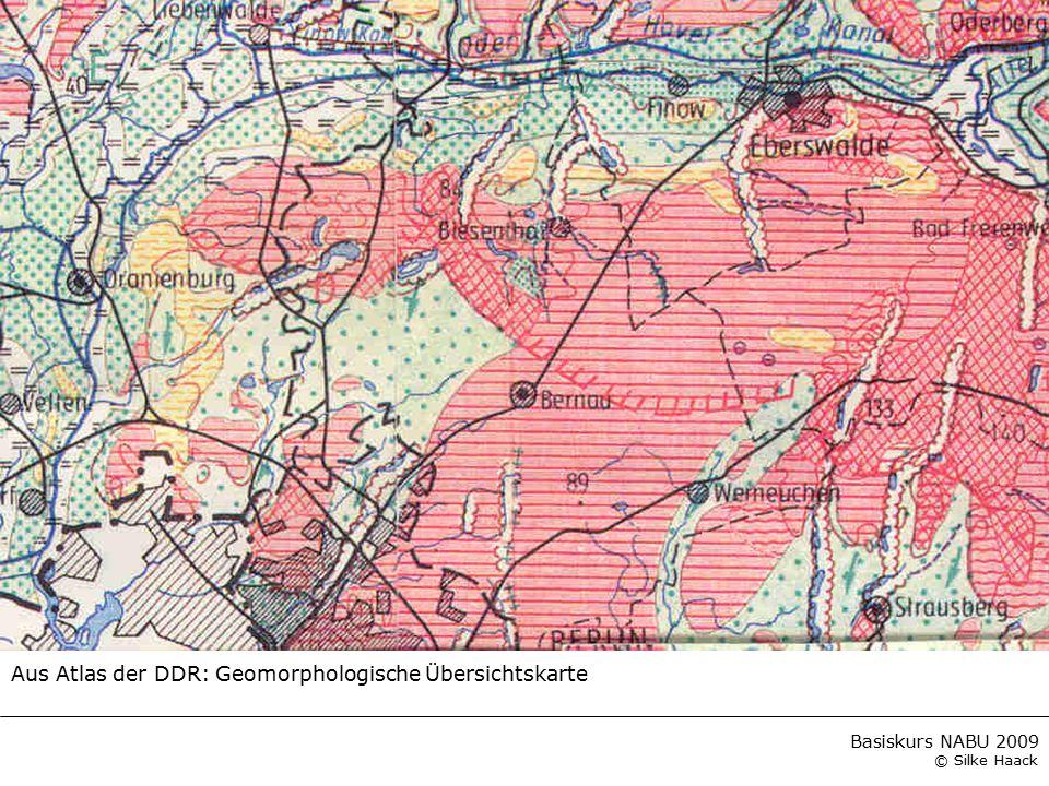 Aus Atlas der DDR: Geomorphologische Übersichtskarte