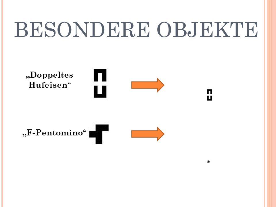 """BESONDERE OBJEKTE """"Doppeltes Hufeisen """"F-Pentomino"""