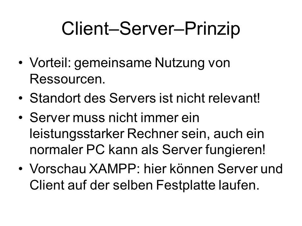 Client–Server–Prinzip