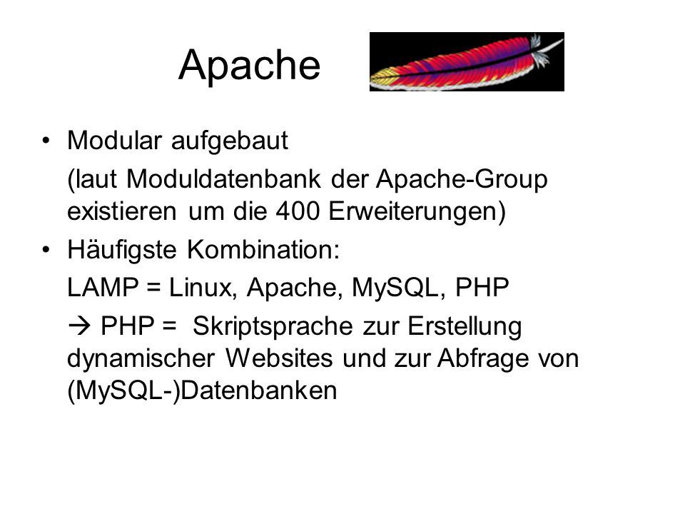 Apache Modular aufgebaut