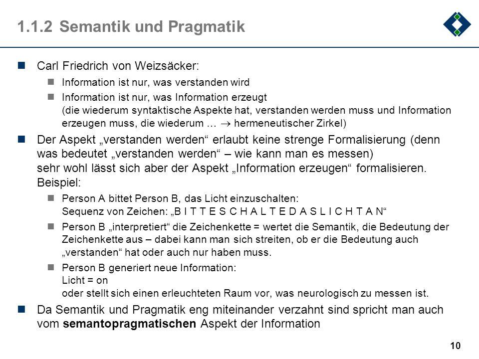 1.1.2 Semantik und Pragmatik