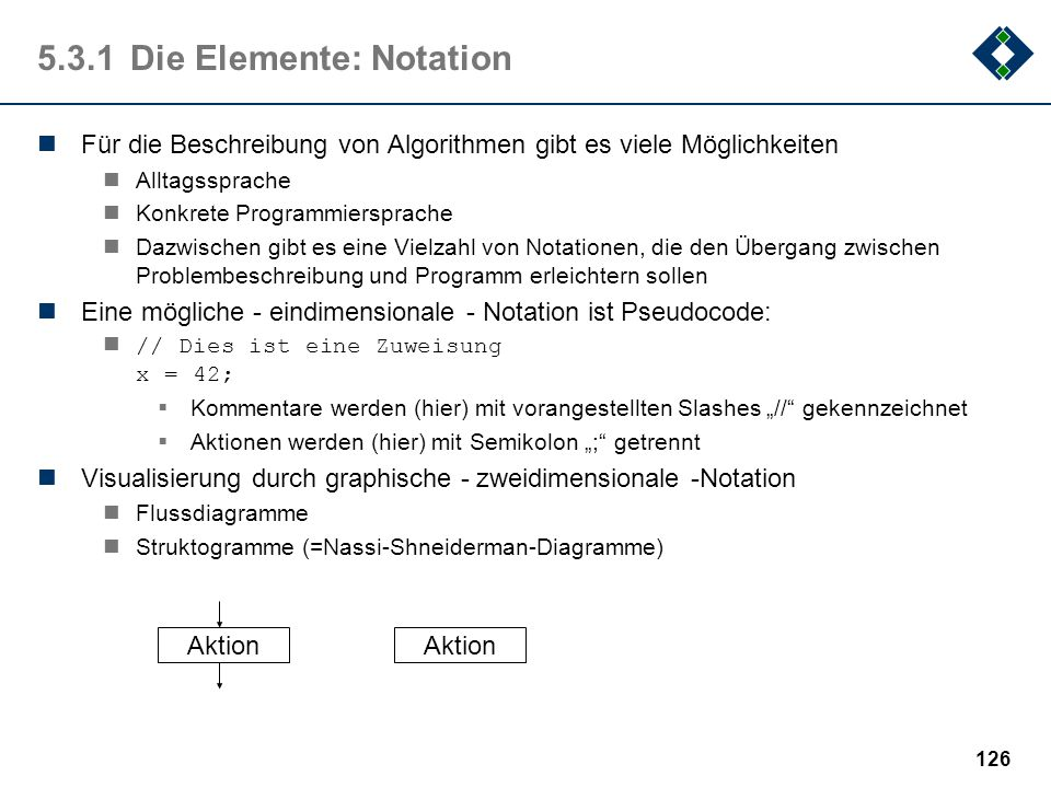 5.3.1 Die Elemente: Notation