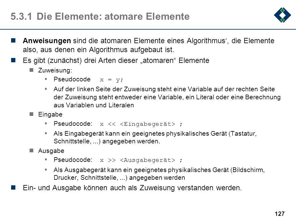 5.3.1 Die Elemente: atomare Elemente