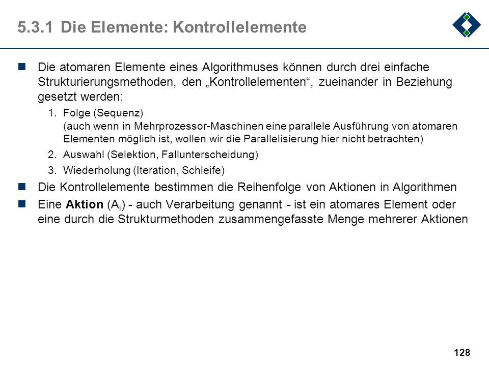 5.3.1 Die Elemente: Kontrollelemente