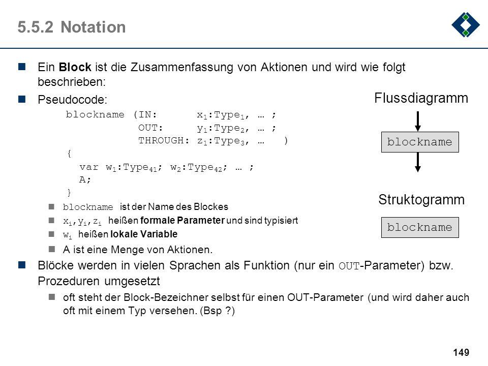 5.5.2 Notation Flussdiagramm Struktogramm
