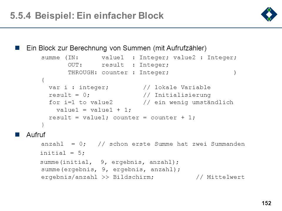 5.5.4 Beispiel: Ein einfacher Block