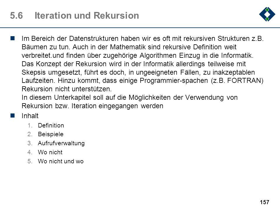 5.6 Iteration und Rekursion