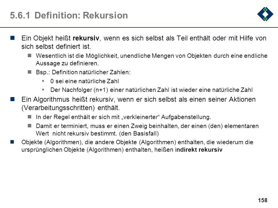 5.6.1 Definition: Rekursion