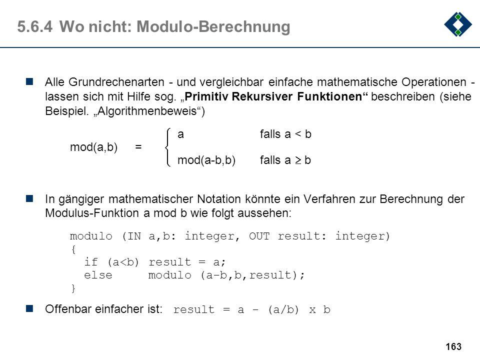 5.6.4 Wo nicht: Modulo-Berechnung