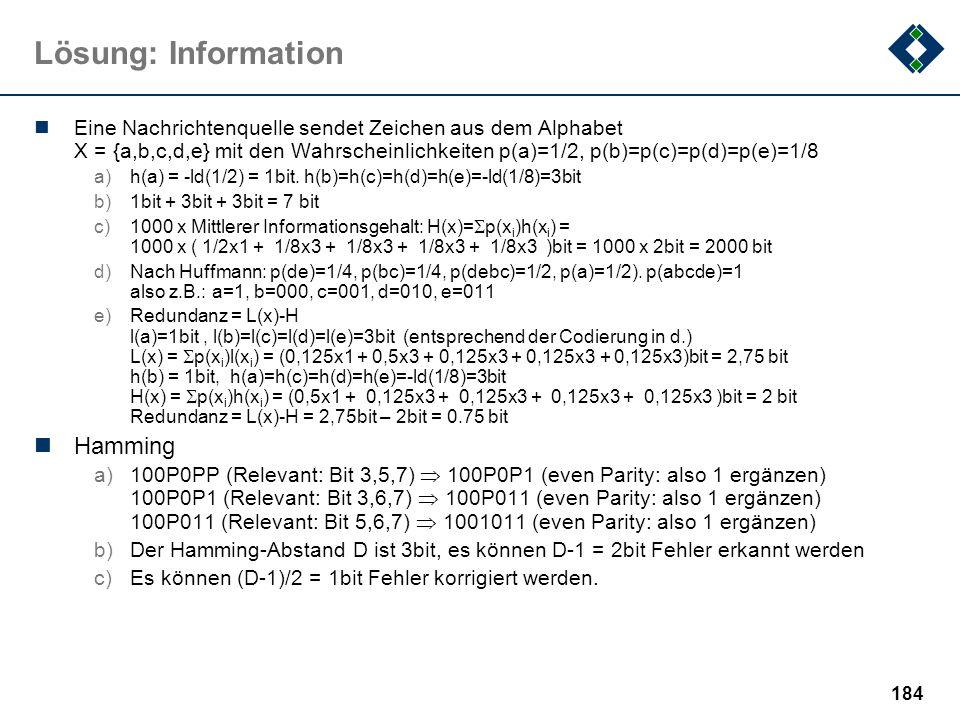 Lösung: Information Hamming