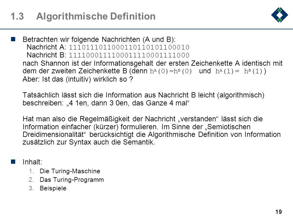 1.3 Algorithmische Definition