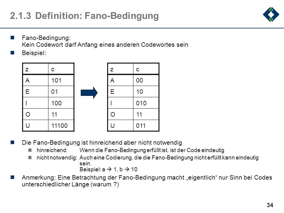 2.1.3 Definition: Fano-Bedingung